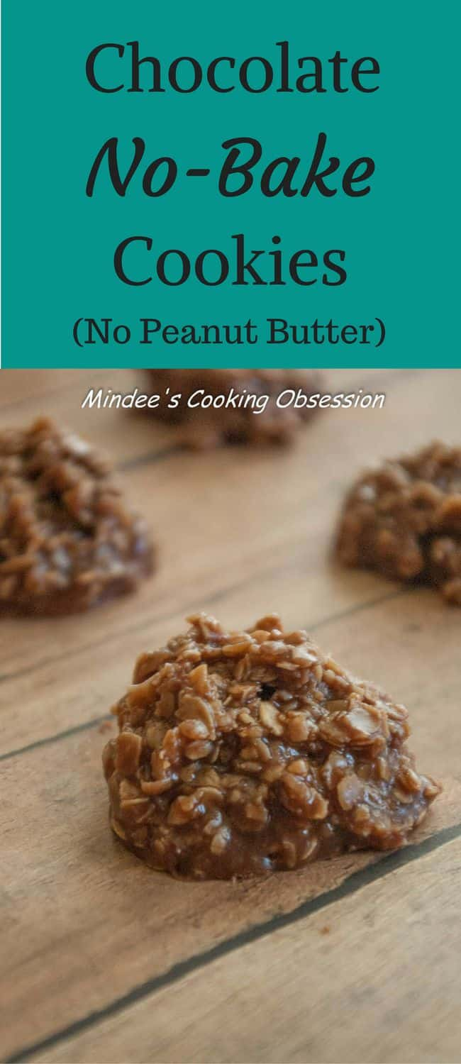 Chocolate No Bake Cookies- No Peanut Butter! No Coconut! Just moist chocolate no bake cookies to help you beat the summer heat! These cookies will disappear as fast as you make them!