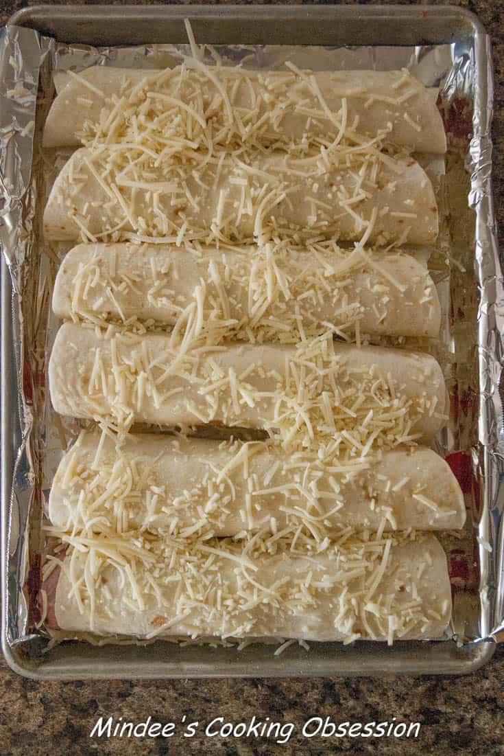 Ham and Cheese Roll Ups ready to bake.