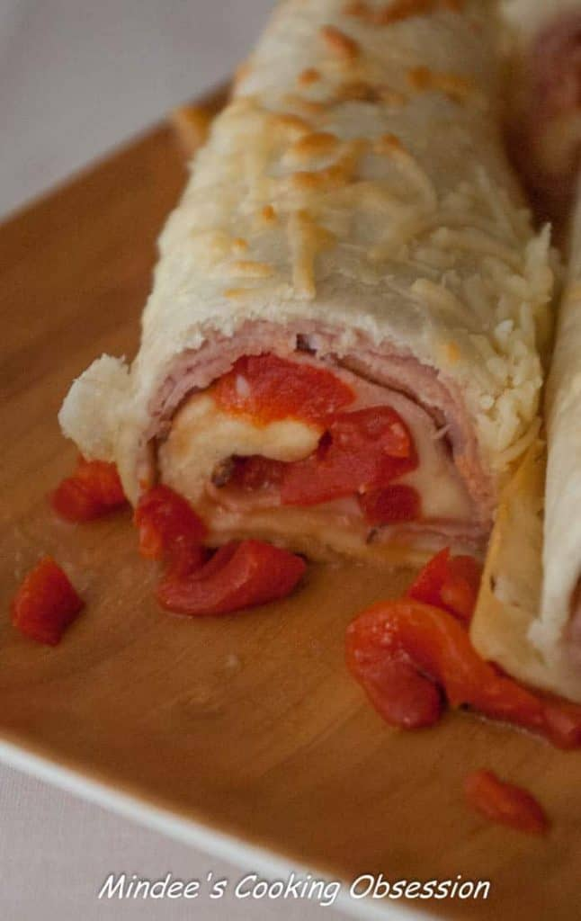 Ham and Cheese Roll Ups Ham and cheese roll ups are quick, easy and require minimal cooking time. Plus roasted red peppers give them an awesome flavor boost!