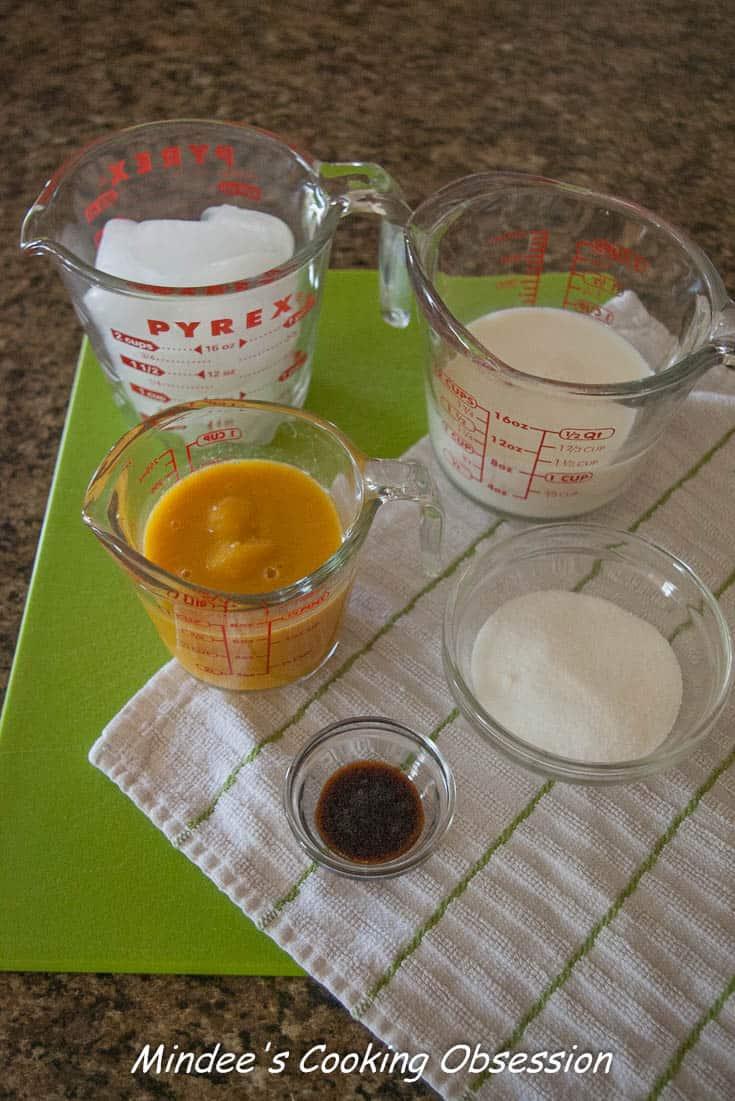 Orange Julius ingredients.