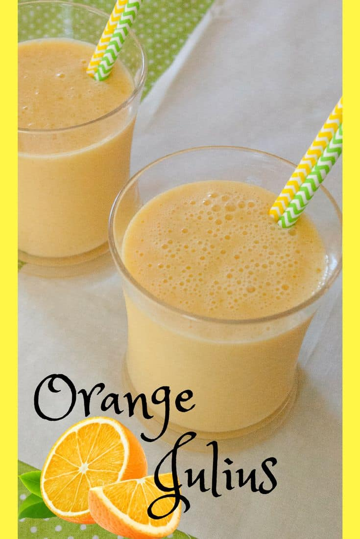 Orange Julius- A refreshing alternative to plain orange juice. Orange Julius with it's creamy texture and rich flavor will cool you down and satisfy your sweet tooth!