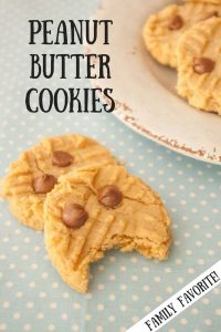 Peanut Butter Cookies pinnable image.