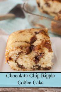 Chocolate Chip Ripple Coffee Cake pinnable image