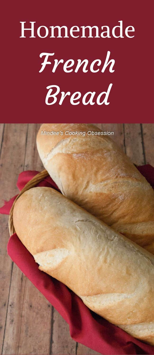 Homemade French Bread- What goes better with a hot winter meal than a loaf of homemade french bread with a crispy crust and soft, chewy insides!