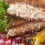 Pinnable image 1 for turkey reubens.