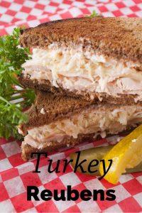 Pinnable image 1 for turkey reubens.