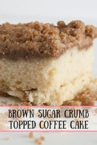 Brown Sugar Crumb Topped Coffee Cake