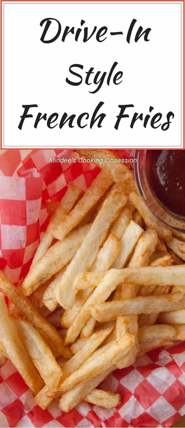 Drive-In style french fries are to die for! Their crispy, golden outsides with soft, potato-y insides make any dinner something special!