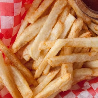 Drive-In Style French Fries Drive-In style french fries are to die for! Their crispy, golden outsides with soft, potato-y insides make any dinner something special!