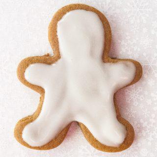 Single iced gingerbread man.