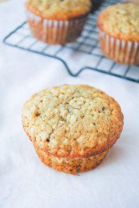 Pinnable image 2 for banana oatmeal muffins.