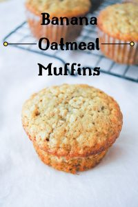 Pinnable image 3 for banana oatmeal muffins.