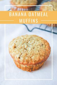 Pinnable image 4 for banana oatmeal muffins.