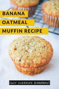 Pinnable image 5 for banana oatmeal muffins.