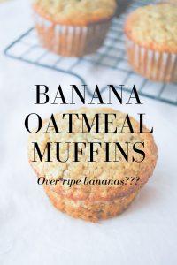 Pinnable image 6 for banana oatmeal muffins.