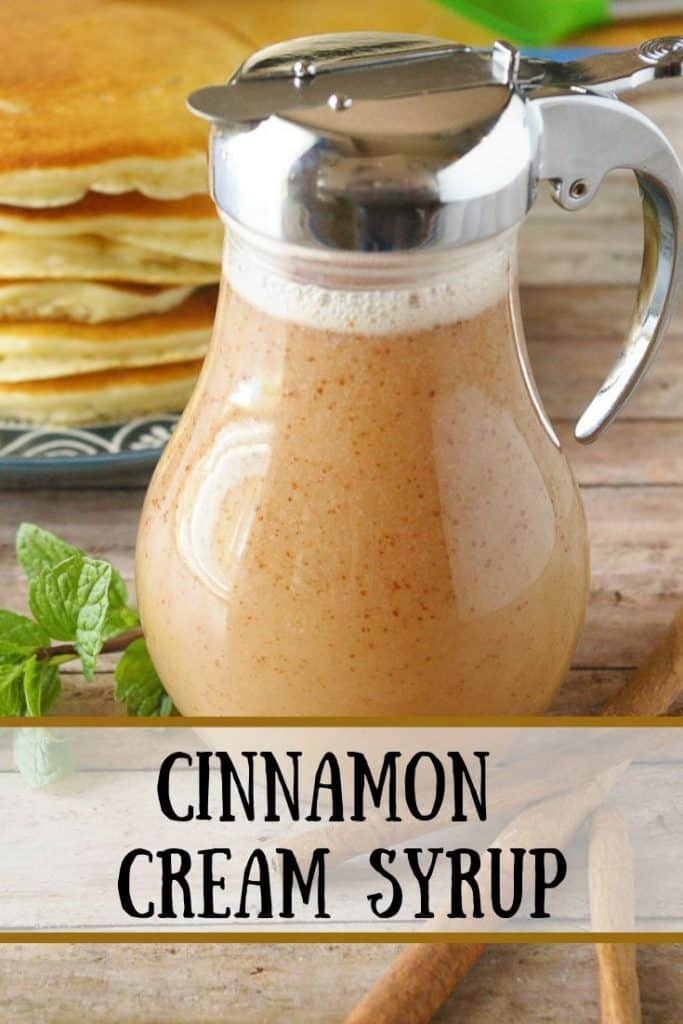 Pinnable image 1 for cinnamon cream syrup.
