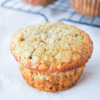Facebook image for banana oatmeal muffins.