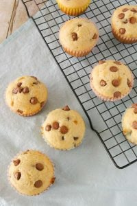 Pinnable image 2 for chocolate chip muffins.