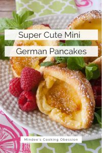 Pinnable image 6 for mini german pancakes.
