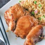 honey Barbecue chicken thighs