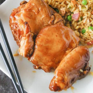 Honey Barbecue Glazed Chicken Cook this honey barbecue glazed chicken in a slow cooker and then finish it under the broiler for a moist chicken dinner that will knock your socks off!