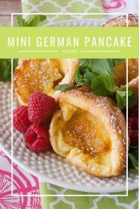 Pinnable image 5 for mini german pancakes.