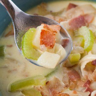 Simple Potato Bacon Soup facebook image.