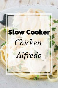 Pinnable image 5 for slow cooker chicken alfredo.