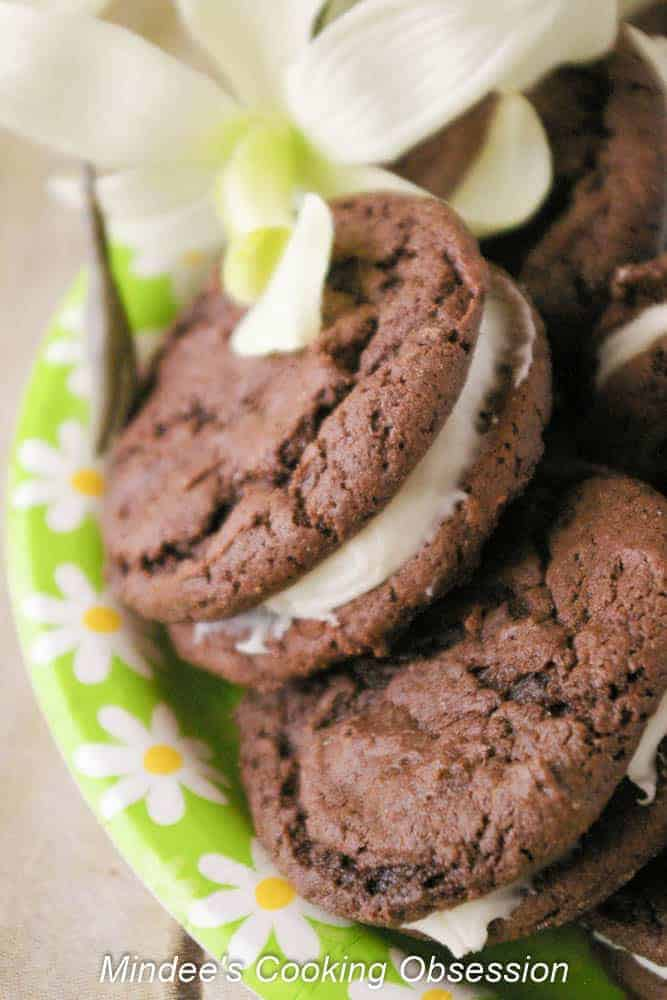 Irresistible Homemade Oreos Irresistable homemade oreos are just that. Irresistible! These soft, deeply chocolatey cookies filled with cream cheese frosting will disappear quickly!