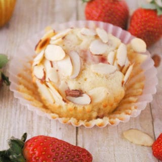 Strawberry Almond Muffins These tasty almond muffins are packed with fresh strawberries. Their natural sweetness makes these muffins something special!
