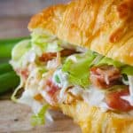 Facebook image for turkey salad croissants