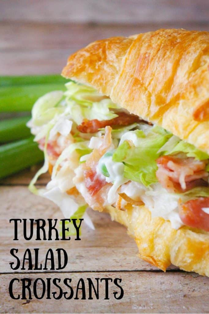 Pinnable image 3 for turkey criossant sandwiches.