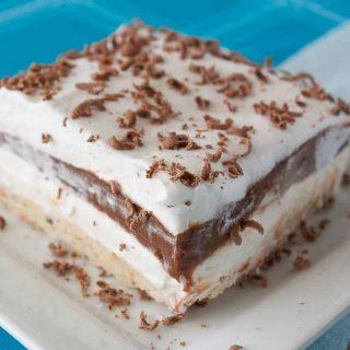 Facebook image for choc lasagna.