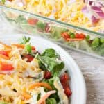 Facebook image for layered summer salad.