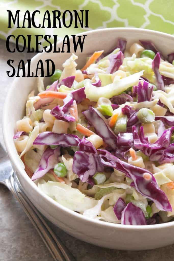 Macaroni Coleslaw Salad Pinnable image 3.
