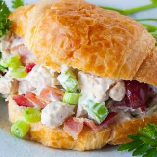 Facebook image for chicken salad croissants.