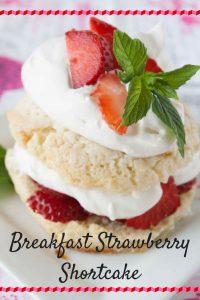 Breakfast Strawberry Shortcake pinnable image