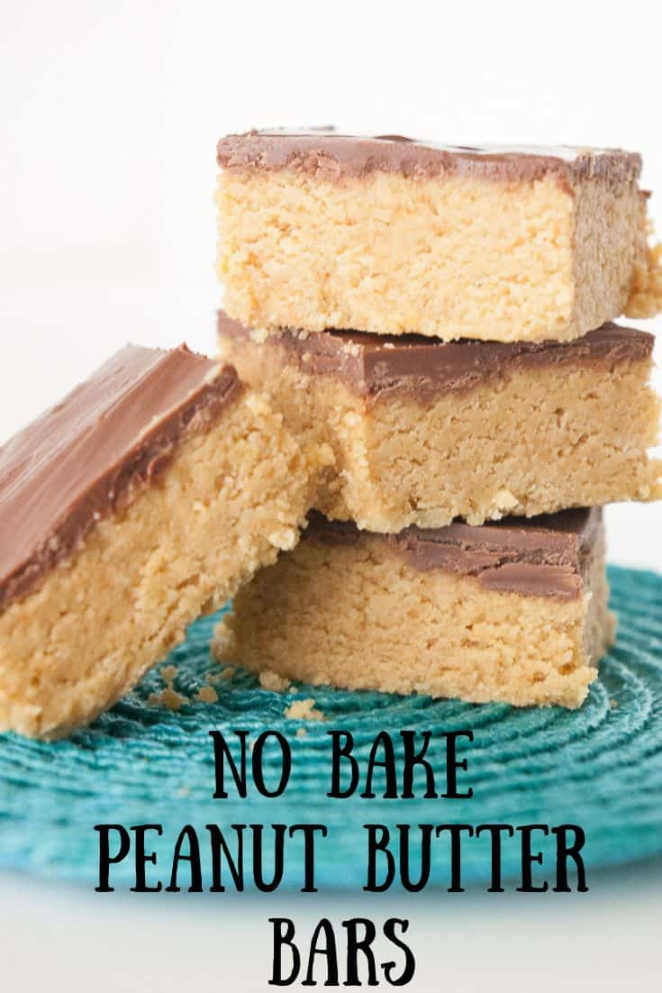 Pinnable image 3 for no bake PB bars.