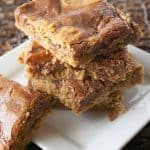 Oatmeal Fudge Bars facebook image.