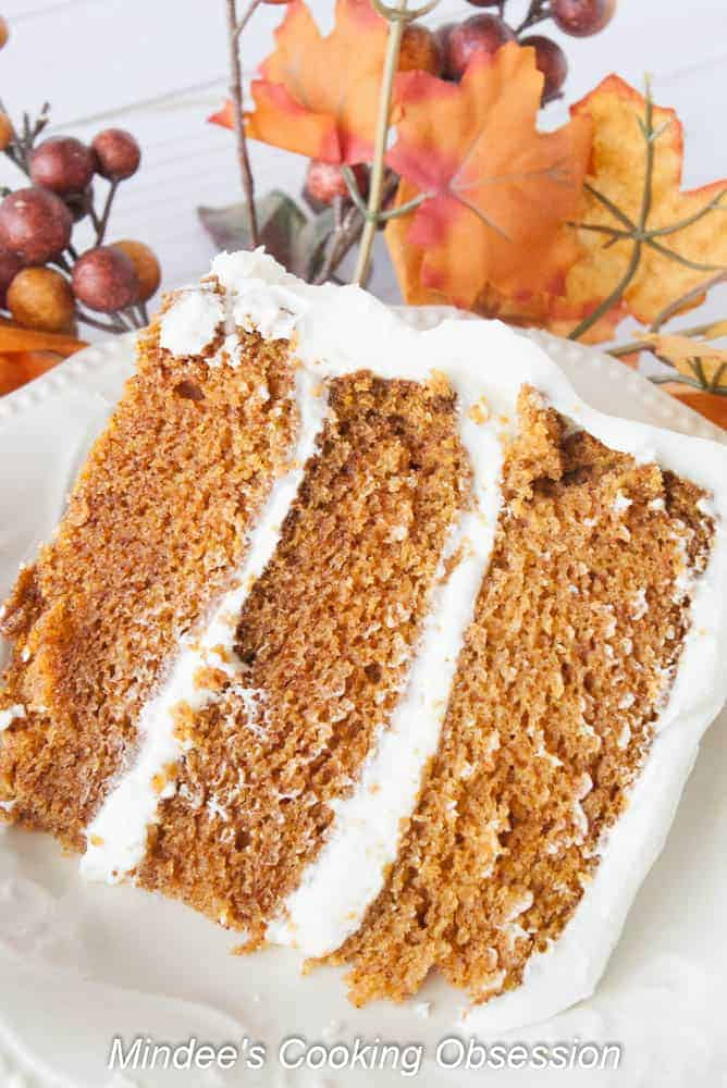 Corrie's Triple Layer Carrot Cake- These three smooth, moist carrot cake layers frosted with rich cream cheese frosting are simple to make! This is truly the best carrot cake ever!