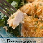 Pinnable image 1 for parm crusted chicken