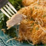 Facebook image for parm crusted chicken.