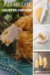 Pinnable image 3 for parm crusted chicken.