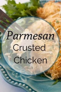 Pinnable image 4 for parm crusted chicken.