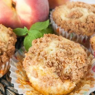 Facebook image for peach muffins.