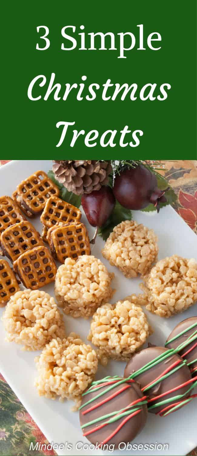 3 Simple Christmas Treats- Need a few quick and easy treats for the holidays this year?  Try these 3 simple Christmas treats.  So easy your kids can make them!
