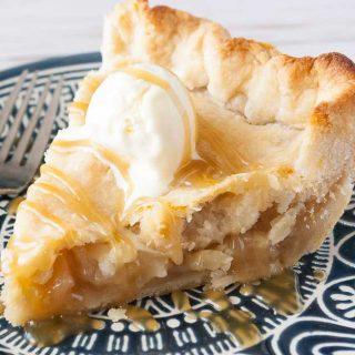 Facebook image for caramel apple pie.