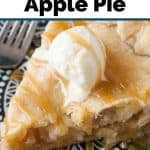 Pinnable image 1 for caramel apple pie.
