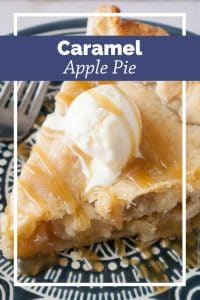 Pinnable image for caramel apple pie.