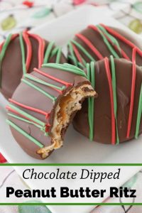Pinnable image 3 for chocolate dipped peanut butter ritz.